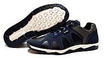 Кроссовки мужские стильные синего цвета, фото 3