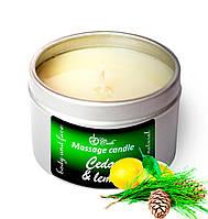 Массажная свеча Live Candle Cedar and lemon (Кедр и лимон) мини 50 мл