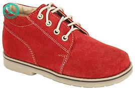 Туфлі ортопедичні шкіряні, червоні