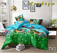 Комплект постельного белья полуторный Майнкрафт подростковый 150х210