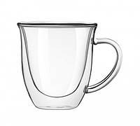 Набор чашек стеклянных с двойными стенками Тюльпан 80мл 2шт
