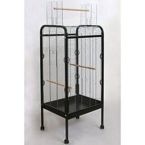 Вольер для птиц на колесах с открывающимся верхом Bird house 56*71*146 см, оцинкованные прутья, фото 2