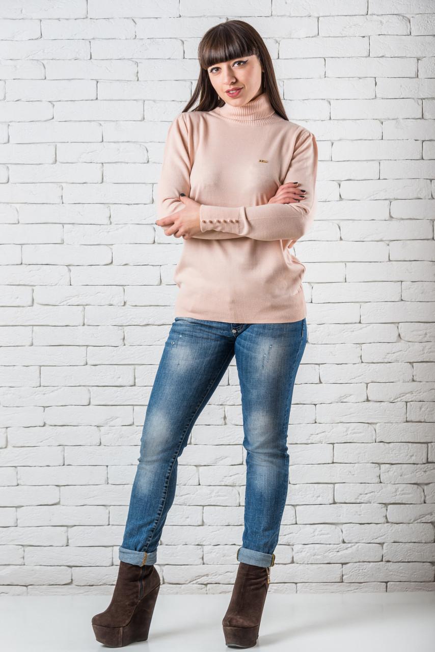 Женский свитер 48-52 пудра