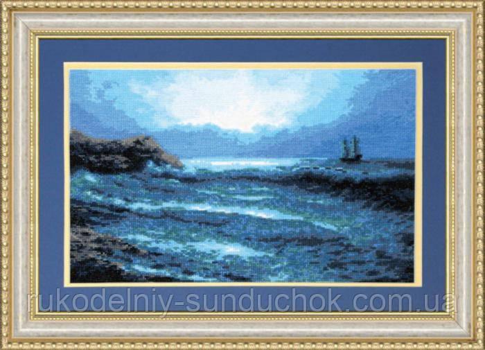 """Набор для вышивки крестиком Чарівна Мить 380 """"Синее море"""""""