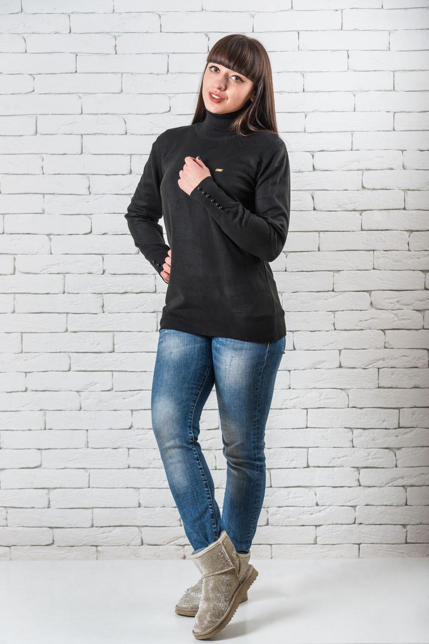 Женский свитер 48-52 темно-синий