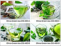 Стеклянные декоры для кухни Green-tea