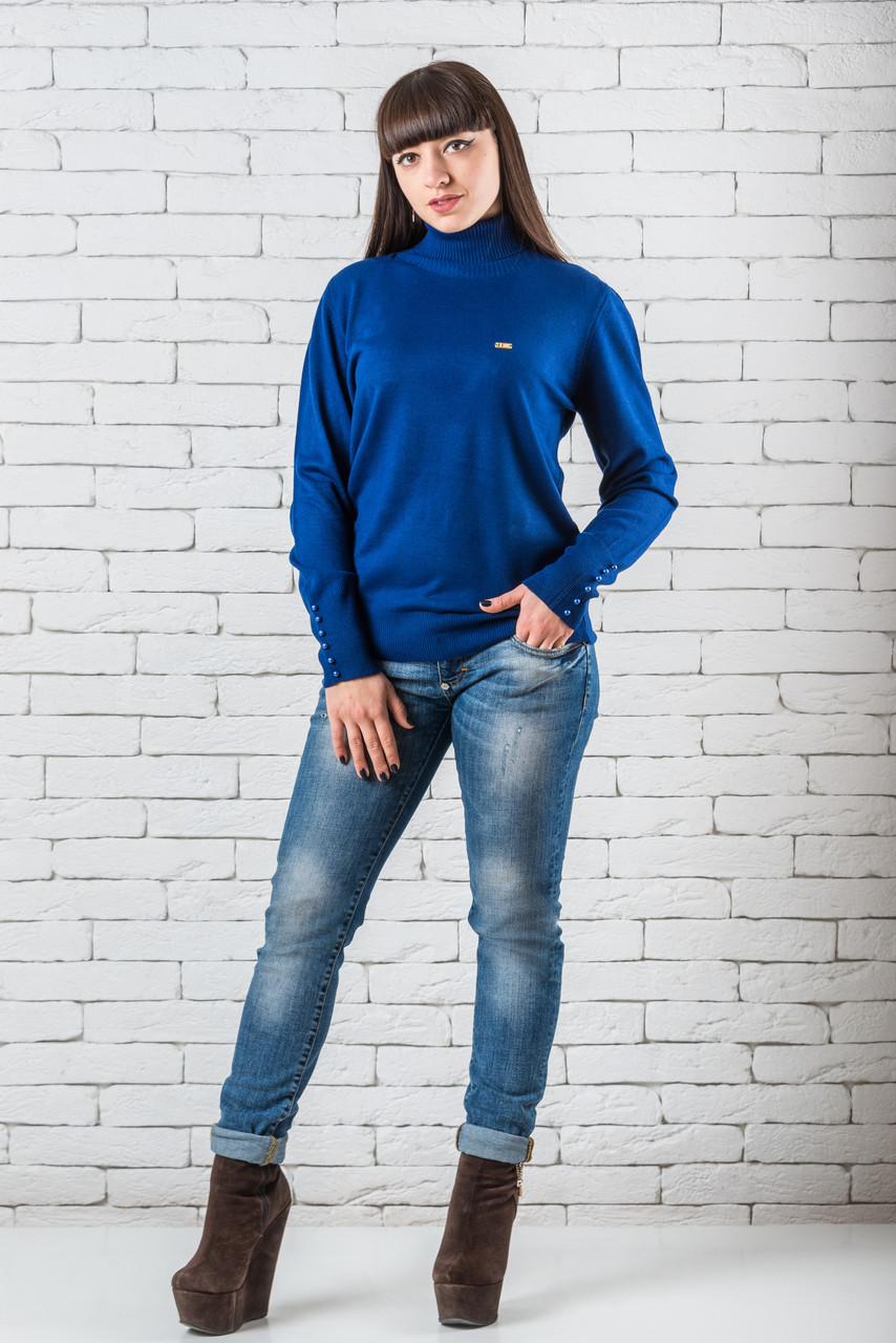 Женский свитер 48-52 электрик