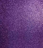"""Флексика """"WB"""" (фоамиран) с глиттером самоклейка 20*30см 1,8мм темно-фиолетовый 8679"""