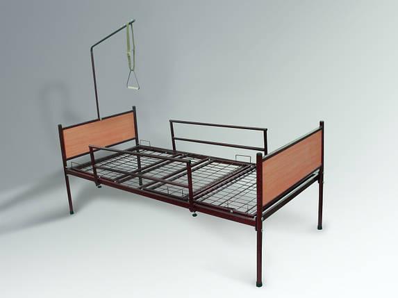 Медицинская функциональная четырехсекционная кровать для лежачих больных в полной комплектации, фото 2