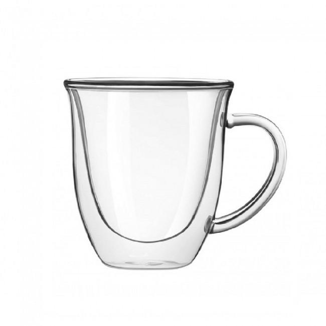 Чашка стеклянная с двойными стенками Тюльпан 250мл