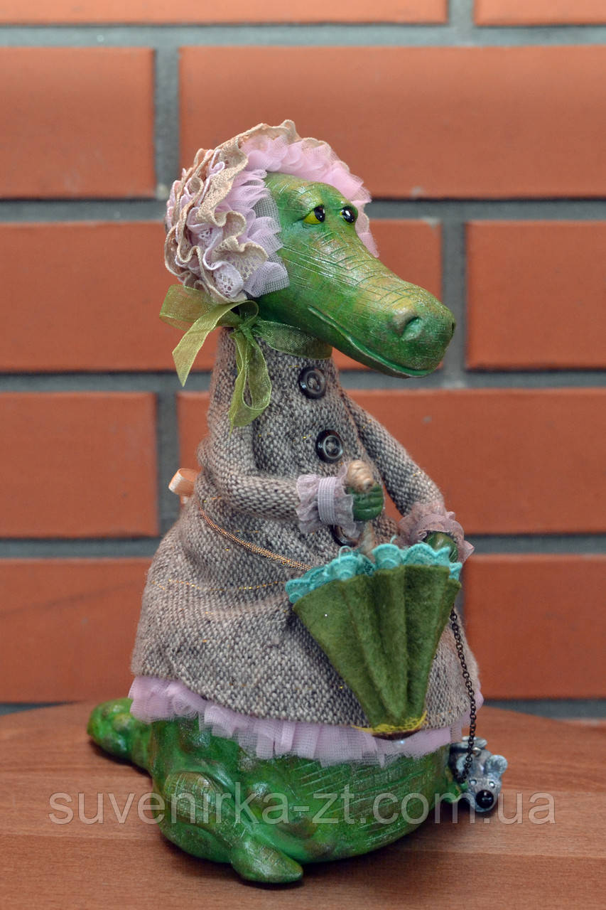 """Авторская, характерная кукла. """"Арина"""" (крокодилица) (А01112)"""