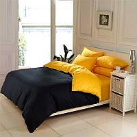 Полуторный комплект.Черно-желтое постельное постельное белье