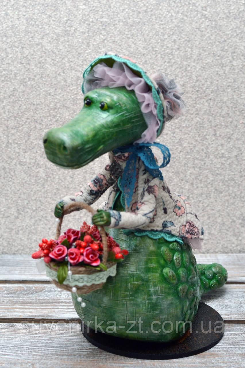 """Авторская, характерная кукла. """"Арина"""" (крокодилица) (А01114)"""