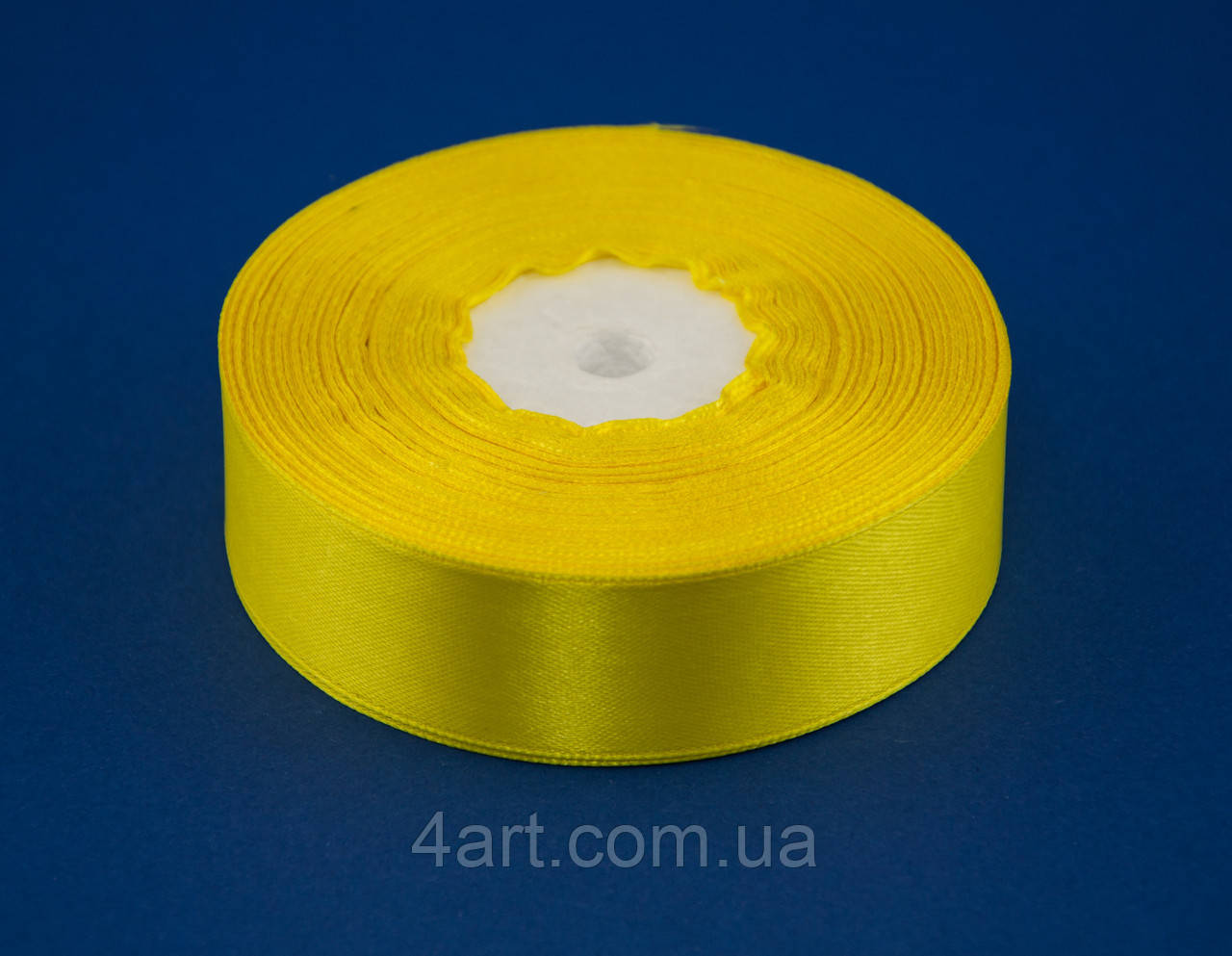 Лента атлас 2 см, 33 м, № 15 желтая ТВ