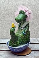 """Авторская, характерная кукла. """"Банный день"""" (крокодилица) (А01115), фото 1"""
