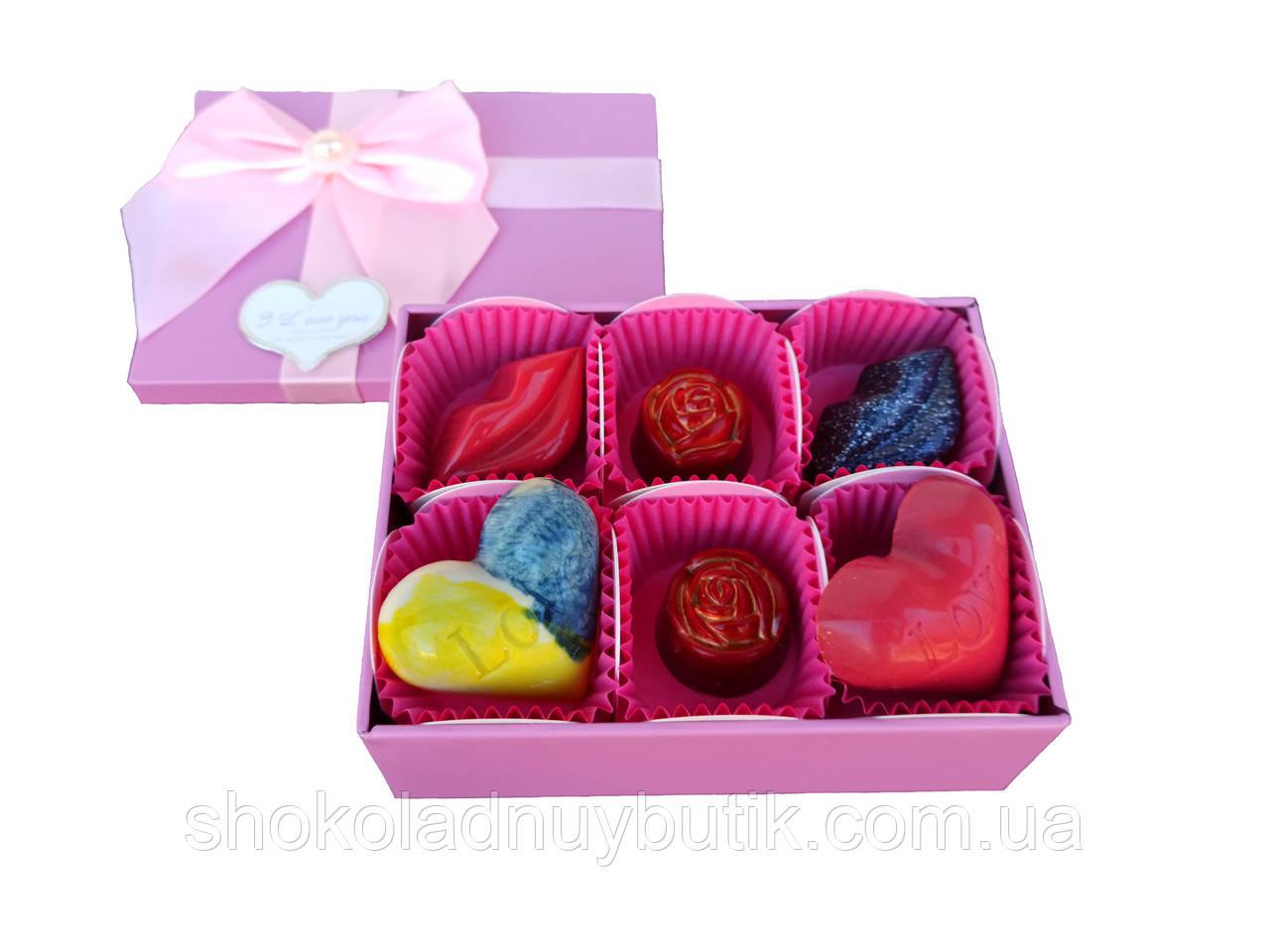 Шоколадные конфеты ручной роботы *Love story*