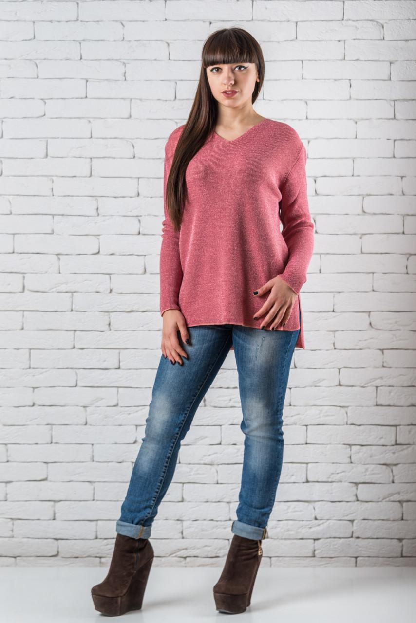 Женский свитер 46-52 розовый