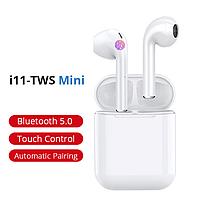 Беспроводные Bluetooth наушники сенсорные Mini i11-TWS Белый
