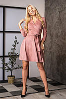 Платье на запах из плотного трикотажа с люрексом, фото 1