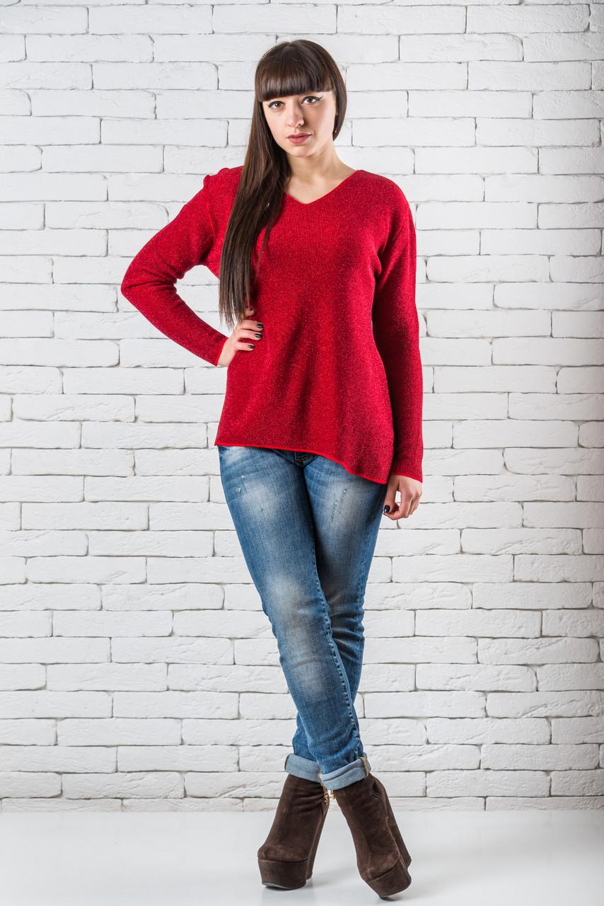 Женский свитер 46-52 красный