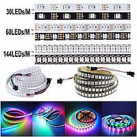 "Адресная Smart светодиодная лента ""Digital RGB"" SMD 5050 60led/m, WS2812B 5v ip20 pixel strip"