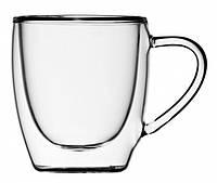 Набор чашек стеклянных с двойными стенками Эспрессо 80мл 2шт
