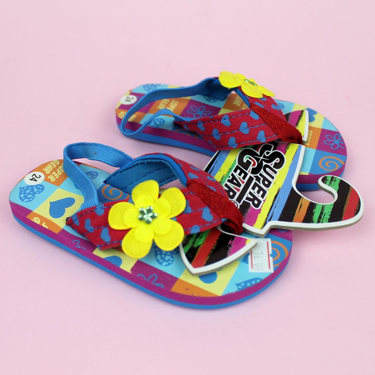 Вьетнамки для девочки, пляжная обувь тм Super Gear р.22,24
