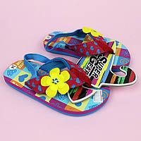 Вьетнамки для девочки, пляжная обувь тм Super Gear р.22,24, фото 1