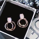 "Серьги ""Layered Rings"", разные цвета, фото 5"