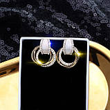"Серьги ""Layered Rings"", разные цвета, фото 6"