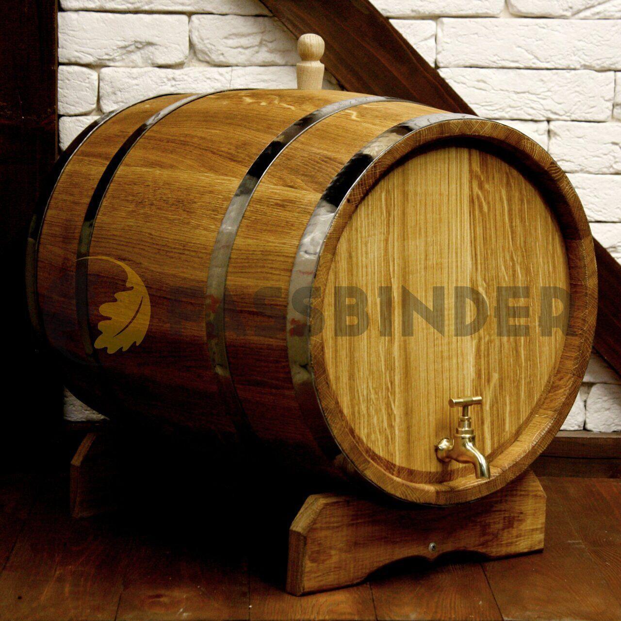 Дубовая бочка для напитков Fassbinder™, 50 литров