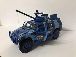 Машинка металлическая броневик EP803, синий