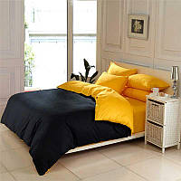 Двуспальный комплект. Черно-желтое постельное постельное белье