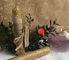 Восковая свеча из вощины с Розой