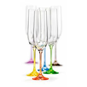 Набор бокалов Bohemia Rainbow 190 мл для шампанского 6 шт (40729 190SD4641 BOH)