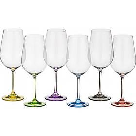 Набор бокалов Bohemia Rainbow 550 мл для вина 6 шт (40729 550SD4641 BOH)