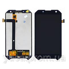 Дисплей для BLACKVIEW BV6000s с чёрным тачскрином
