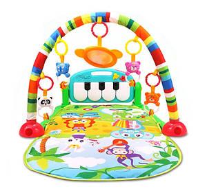 Развивающий музыкальный коврик для детей 7046 см Piano Fitness Rackне зеленый 149671