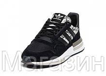 Мужские кроссовки adidas ZX 500 RM Black Адидас ZX 500 черные, фото 3