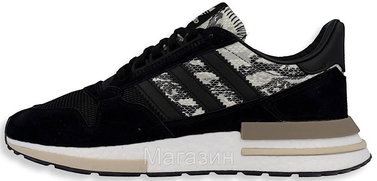 Мужские кроссовки adidas ZX 500 RM Black Адидас ZX 500 черные