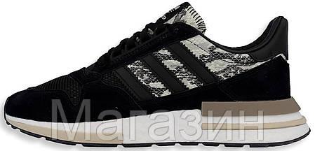 Мужские кроссовки adidas ZX 500 RM Black Адидас ZX 500 черные, фото 2