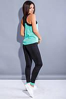 Женский спортивный костюм фитнес тройка (бордо)