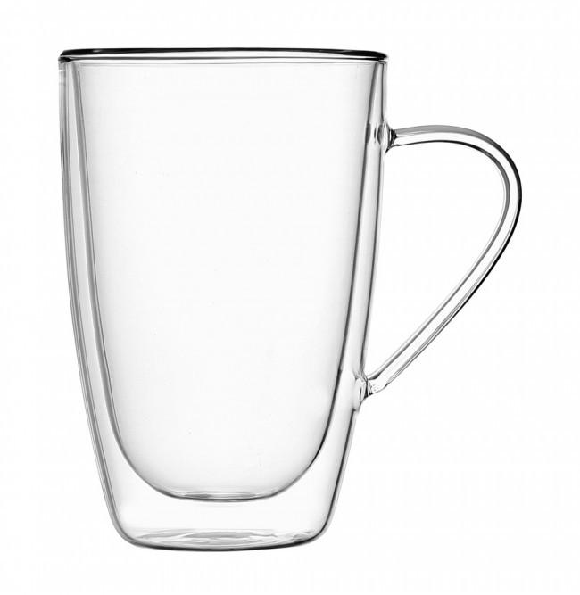 Чашка стеклянная с двойными стенками 330мл