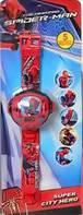 Детские наручные часы с проектором Spider Man