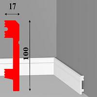 Высокий напольный плинтус из дюрополимера под покраску длиной 2,0 м
