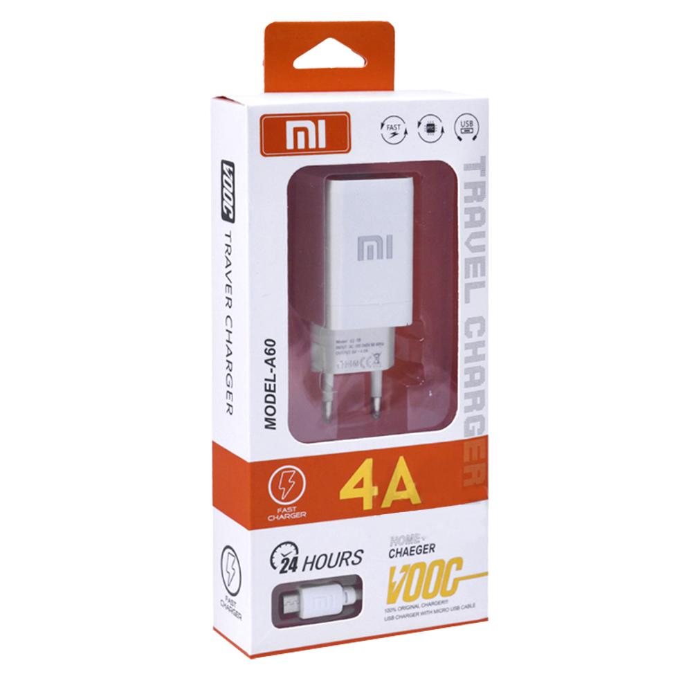 """Комплект СЗУ с проводом 1m """"Xiaomi"""" 4A c 2 USB входами"""