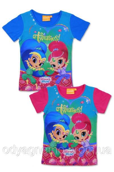 Футболка для девочек Disney оптом, 3-8 лет. Артикул: 962-355