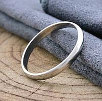 Серебряное Обручальное кольцо 1015-Р, вес 1.6 г, размер 19