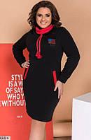 Повседневное трикотажное платье, теплое, размеры 48-50, 52-54, 56-58, 60-62