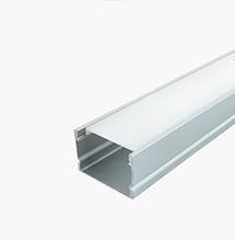 КОМПЛЕКТ!!! (профиль аллюминиевый LED ЛП-20А + рассеиватель матовый LM-20 ), анодированный  (палка 2м)